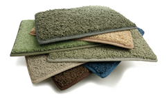 stack of green carpeting